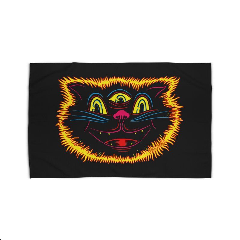 Black Cat Home Rug by redleggerstudio's Shop