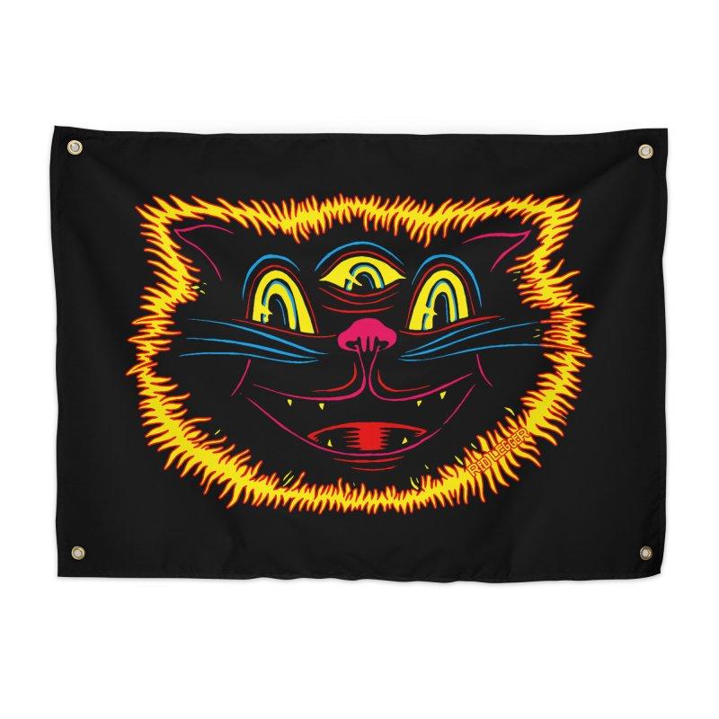 Black Cat Home Tapestry by redleggerstudio's Shop