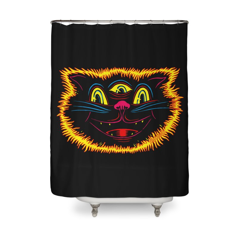 Black Cat Home Shower Curtain by redleggerstudio's Shop