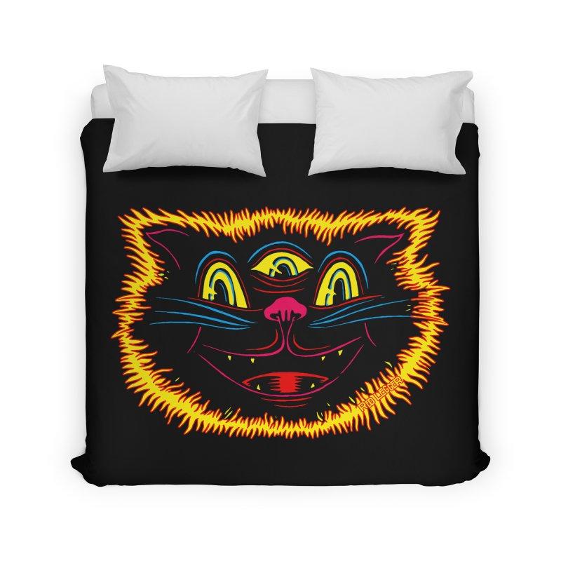 Black Cat Home Duvet by redleggerstudio's Shop