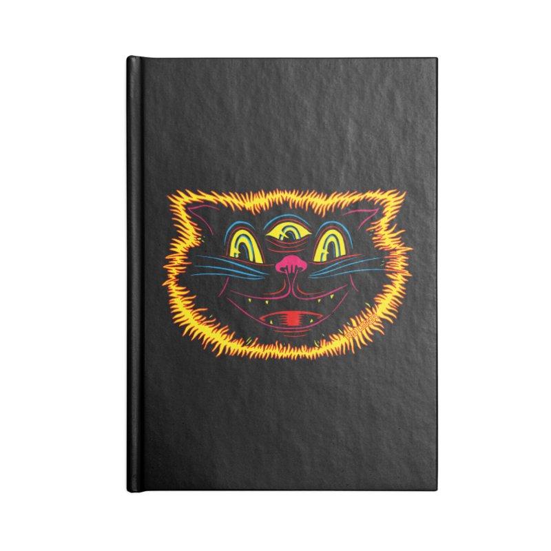 Black Cat Accessories Notebook by redleggerstudio's Shop