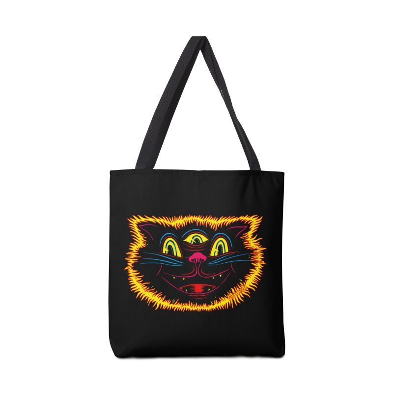 Black Cat Accessories Bag by redleggerstudio's Shop