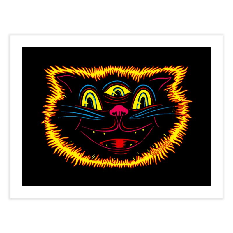Black Cat Home Fine Art Print by redleggerstudio's Shop