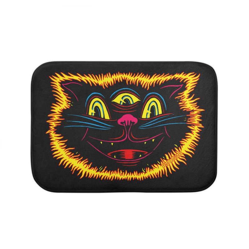 Black Cat Home Bath Mat by redleggerstudio's Shop