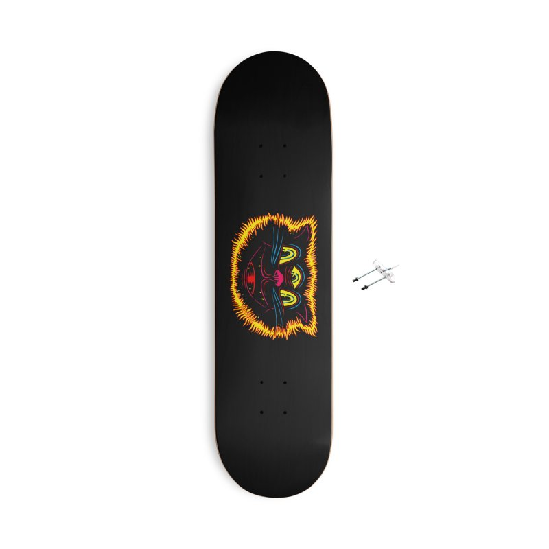 Black Cat Accessories With Hanging Hardware Skateboard by redleggerstudio's Shop