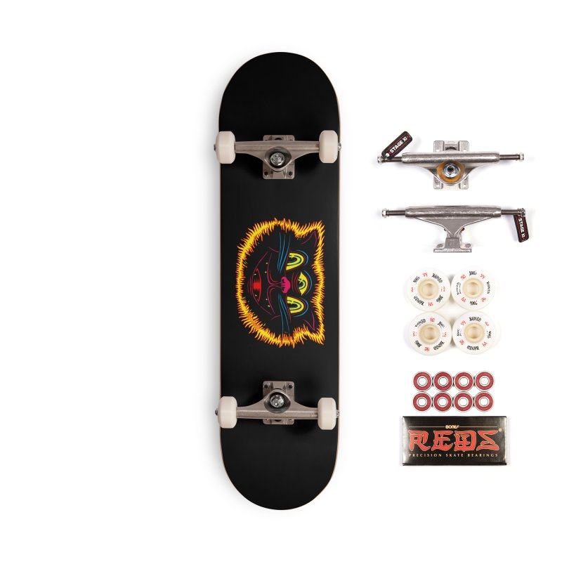 Black Cat Accessories Complete - Pro Skateboard by redleggerstudio's Shop
