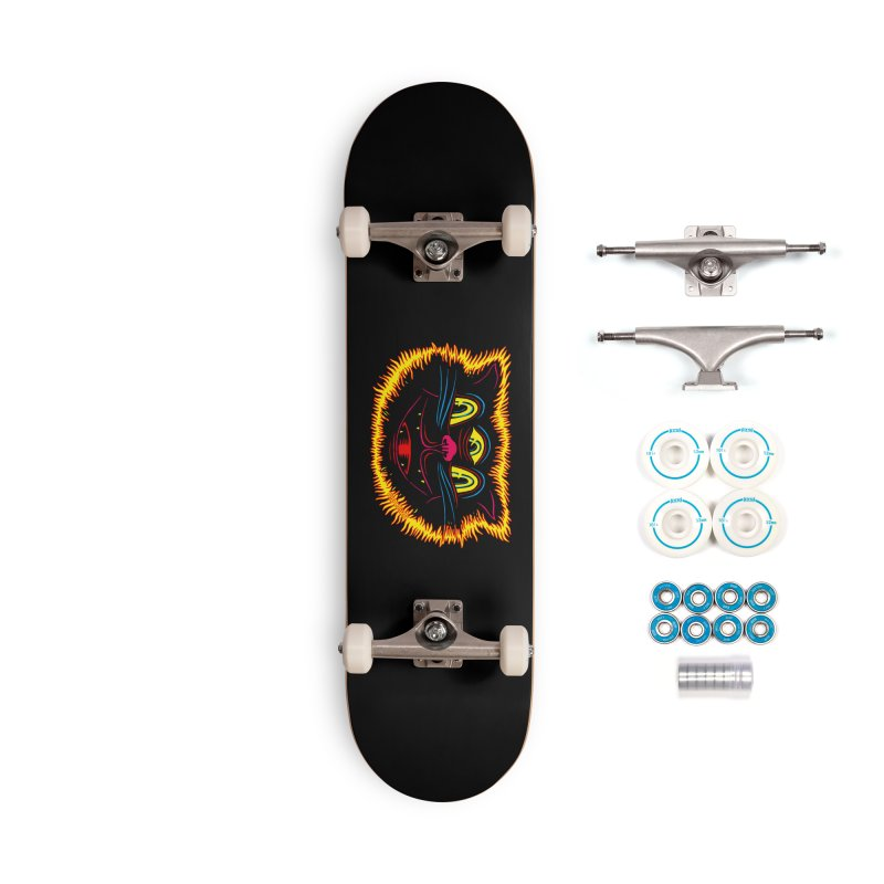 Black Cat Accessories Complete - Basic Skateboard by redleggerstudio's Shop