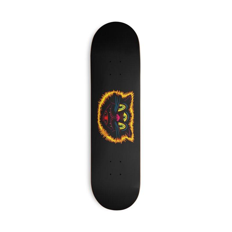 Black Cat Accessories Deck Only Skateboard by redleggerstudio's Shop