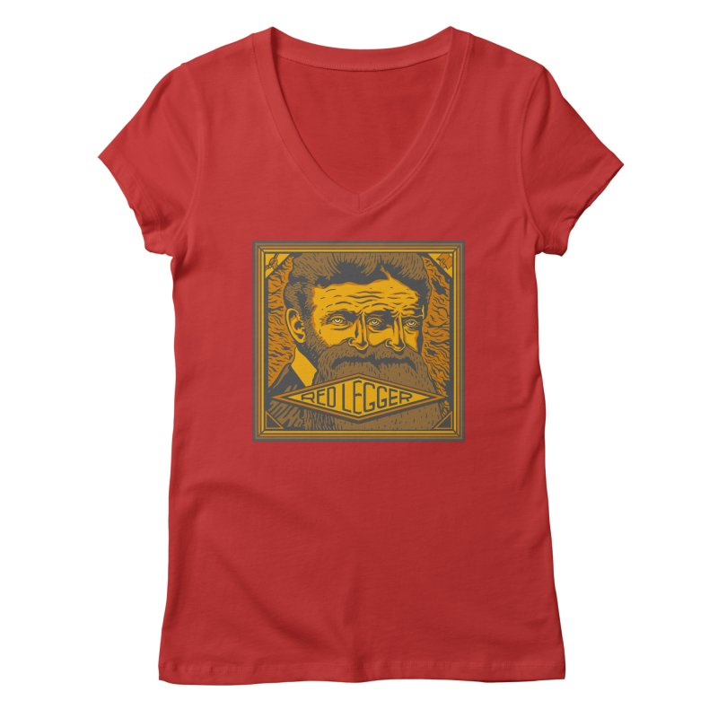 Red Legger - John Brown Women's Regular V-Neck by redleggerstudio's Shop