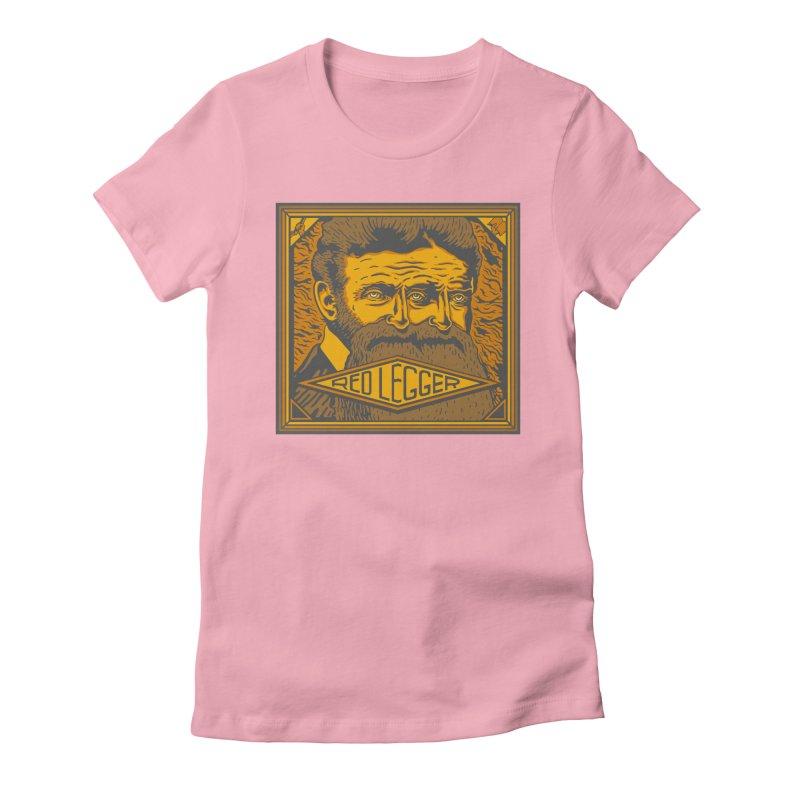 Red Legger - John Brown Women's Fitted T-Shirt by redleggerstudio's Shop