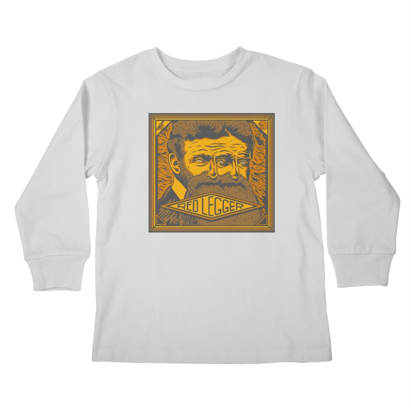 Red Legger - John Brown Kids Longsleeve T-Shirt by redleggerstudio's Shop