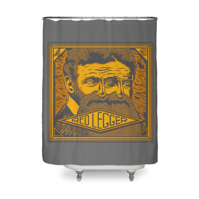Red Legger - John Brown Home Shower Curtain by redleggerstudio's Shop