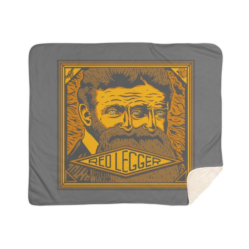 Red Legger - John Brown Home Sherpa Blanket Blanket by redleggerstudio's Shop