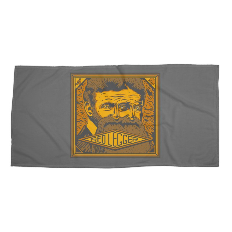 Red Legger - John Brown Accessories Beach Towel by redleggerstudio's Shop