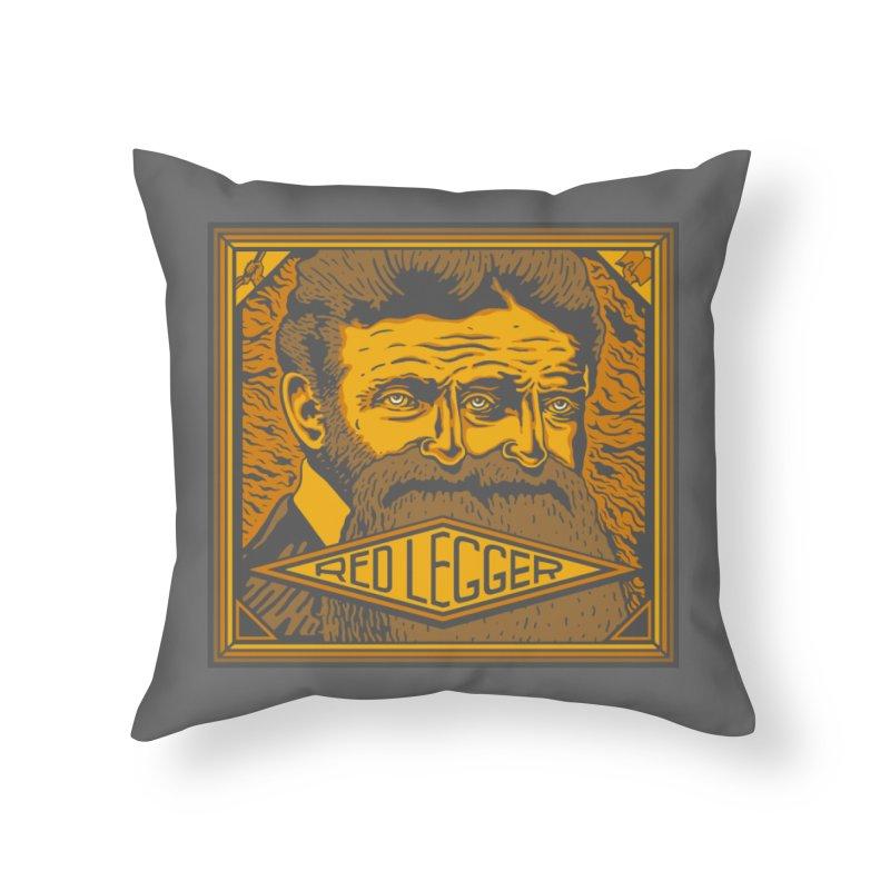 Red Legger - John Brown Home Throw Pillow by redleggerstudio's Shop