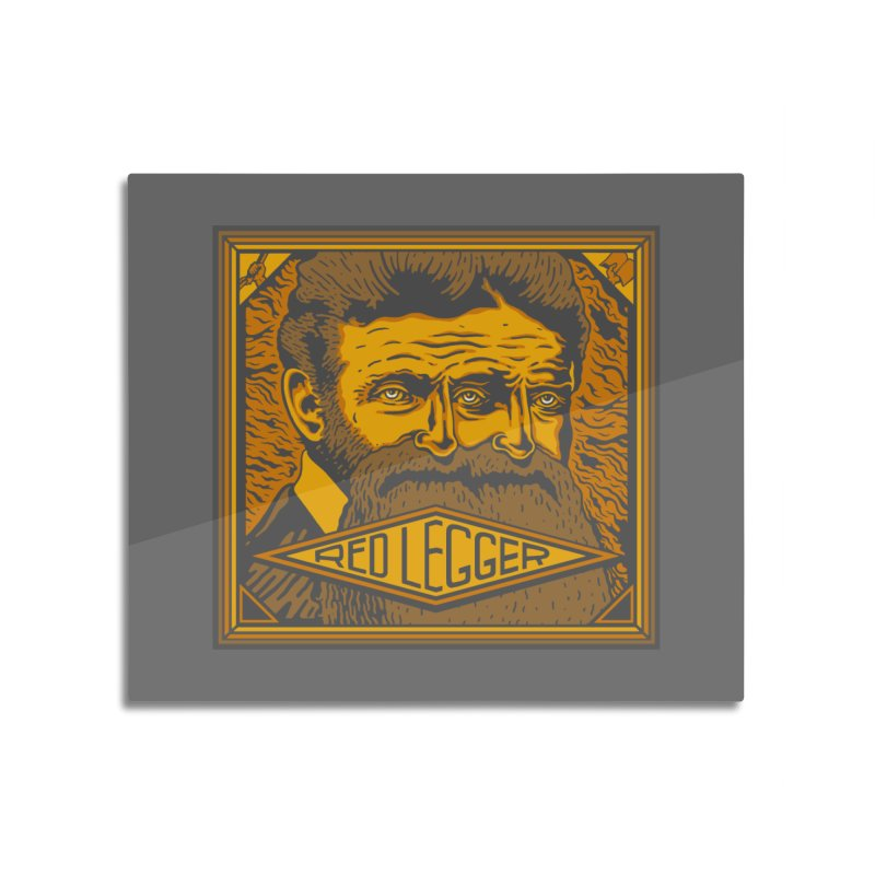 Red Legger - John Brown Home Mounted Aluminum Print by redleggerstudio's Shop