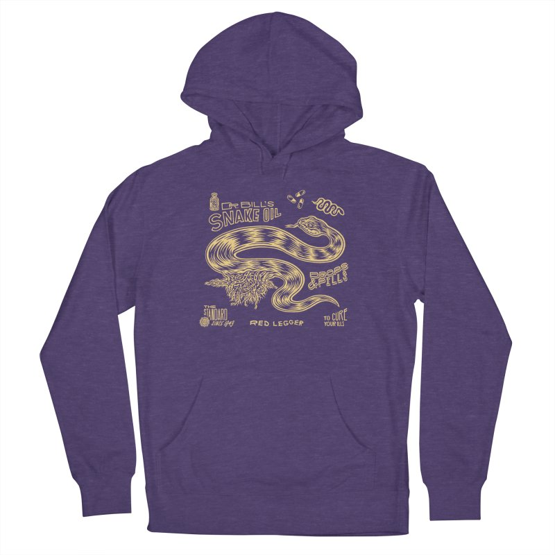 Snake Oil Men's French Terry Pullover Hoody by redleggerstudio's Shop
