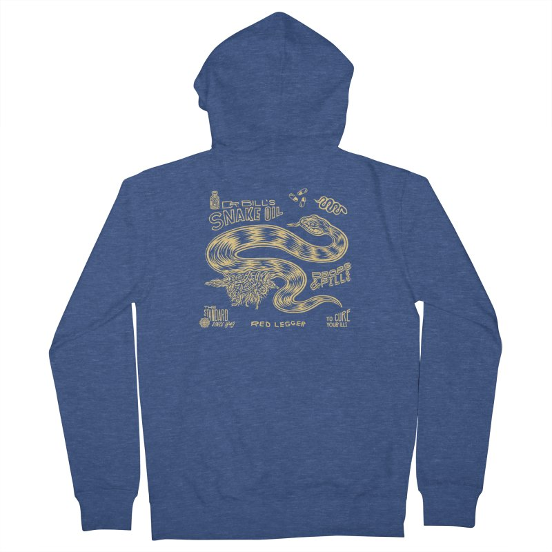 Snake Oil Men's French Terry Zip-Up Hoody by redleggerstudio's Shop