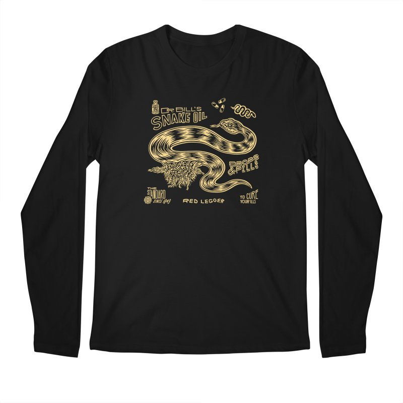 Snake Oil Men's Regular Longsleeve T-Shirt by redleggerstudio's Shop