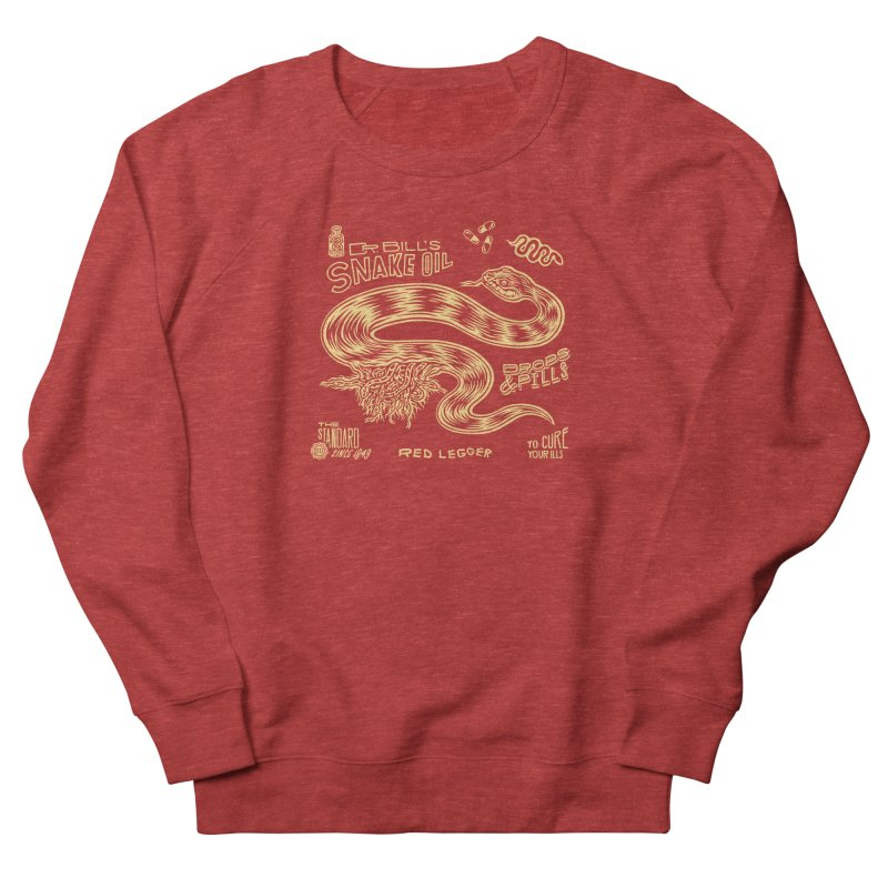 Snake Oil Men's French Terry Sweatshirt by redleggerstudio's Shop