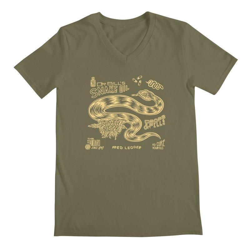 Snake Oil Men's Regular V-Neck by redleggerstudio's Shop