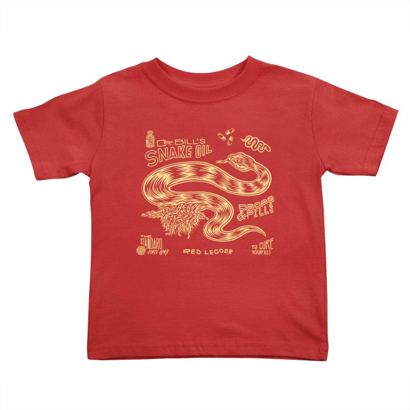 Snake Oil Kids Toddler T-Shirt by redleggerstudio's Shop