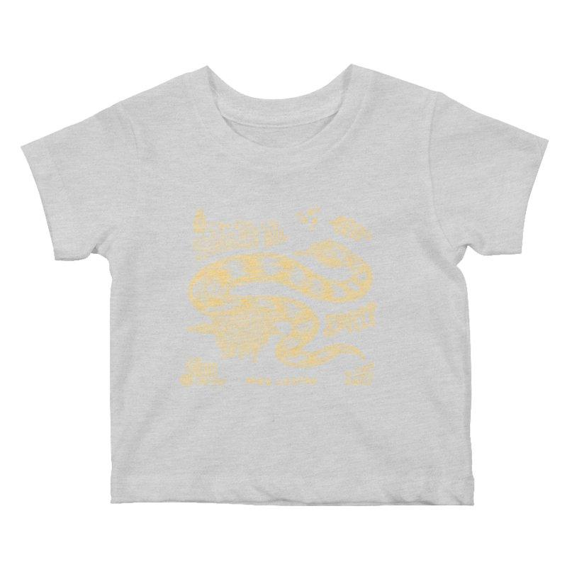 Snake Oil Kids Baby T-Shirt by redleggerstudio's Shop