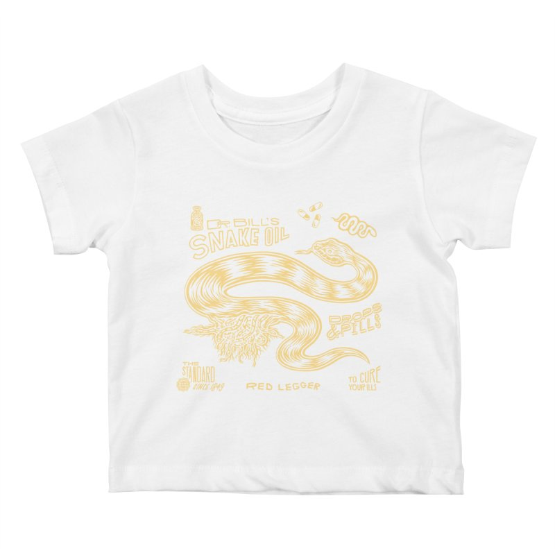 Snake Oil Kids Baby T-Shirt by redleggerstudio's Shop