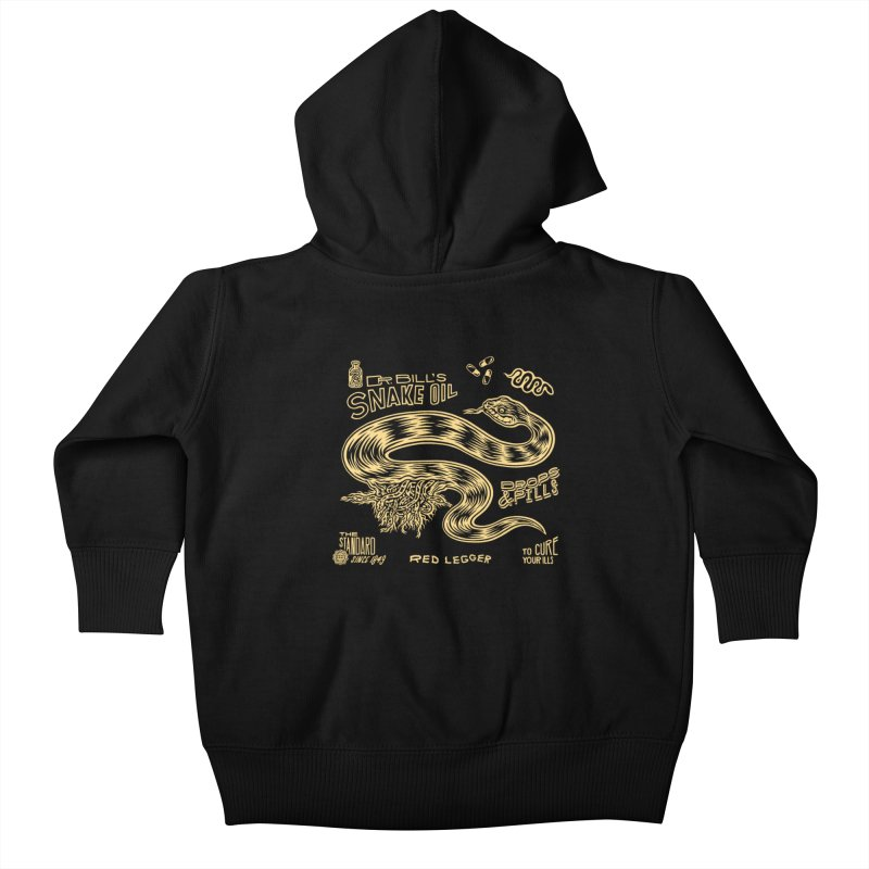 Snake Oil Kids Baby Zip-Up Hoody by redleggerstudio's Shop