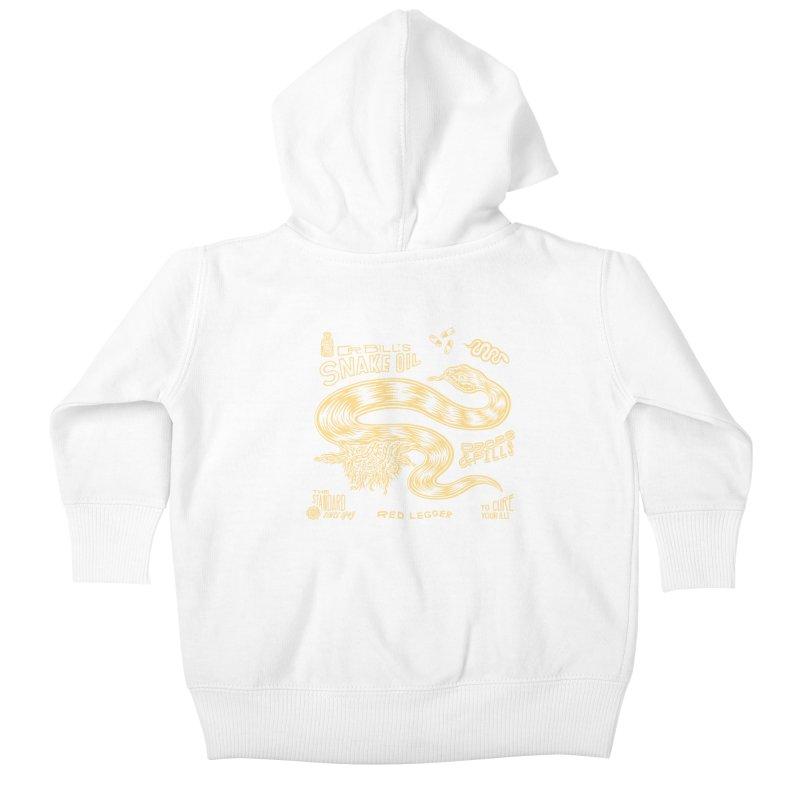 Snake Oil Kids Baby Zip-Up Hoody by redleggerstudio's Shop