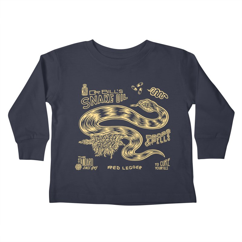 Snake Oil Kids Toddler Longsleeve T-Shirt by redleggerstudio's Shop