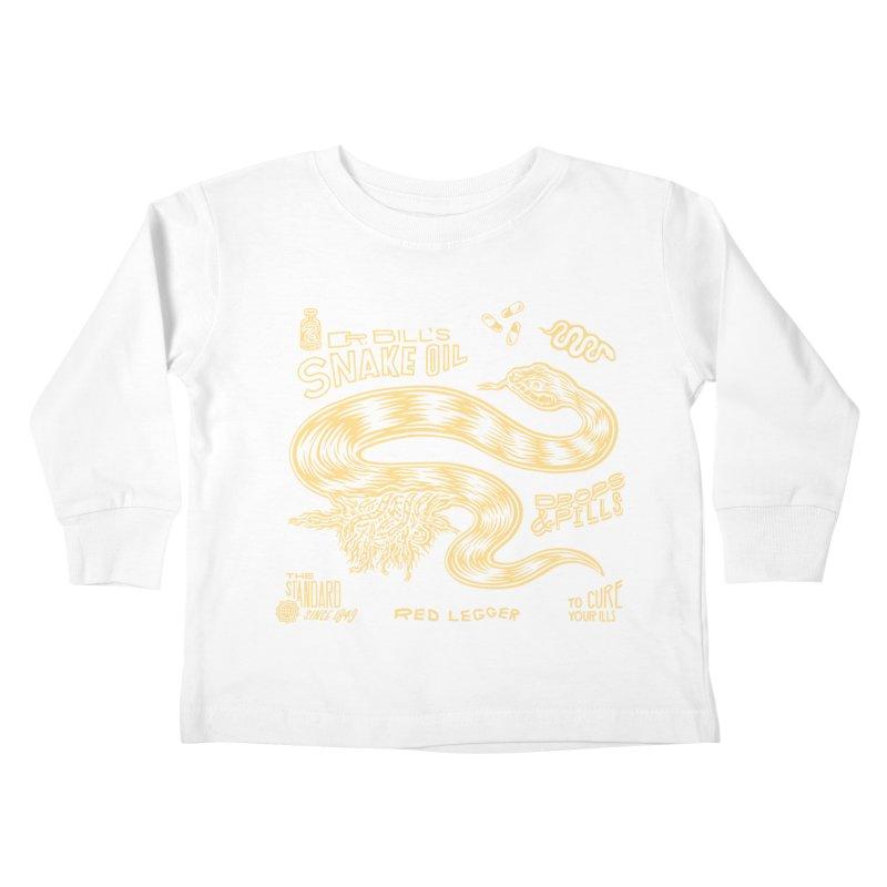 Snake Oil Kids Toddler Longsleeve T-Shirt by redleggerstudio's Shop