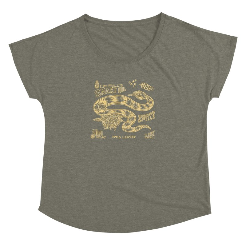 Snake Oil Women's Dolman Scoop Neck by redleggerstudio's Shop