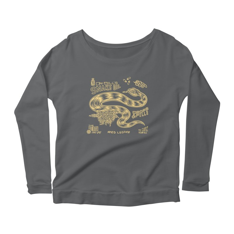 Snake Oil Women's Scoop Neck Longsleeve T-Shirt by redleggerstudio's Shop
