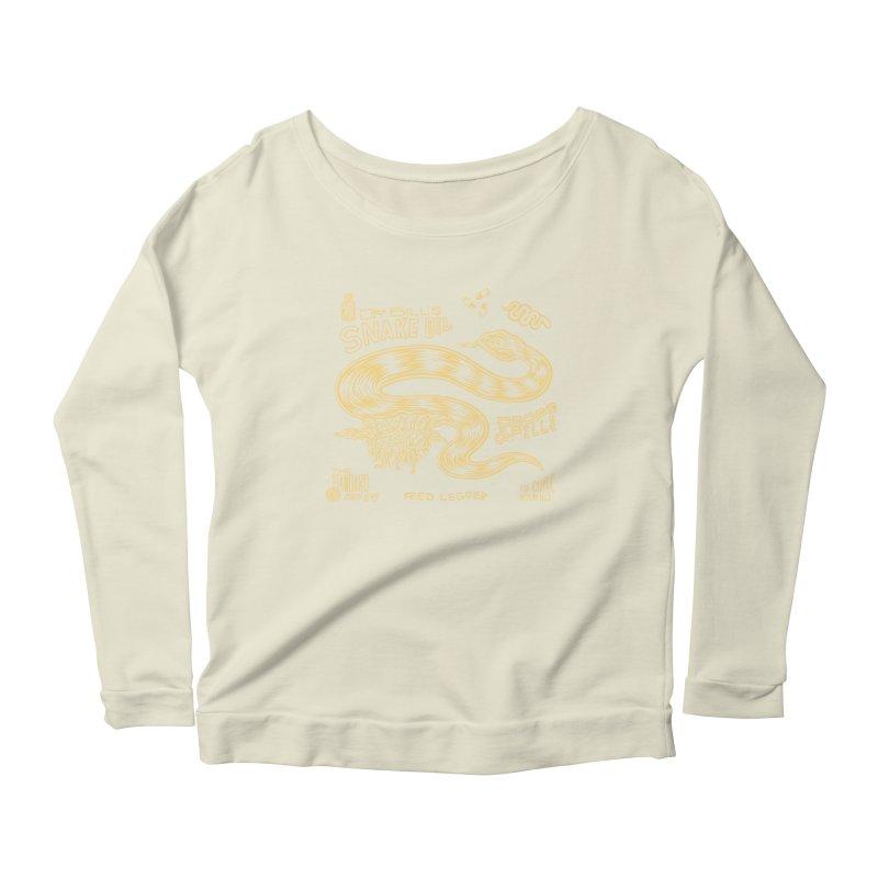 Snake Oil Women's Scoop Neck Longsleeve T-Shirt by redleggerstudio's Shop