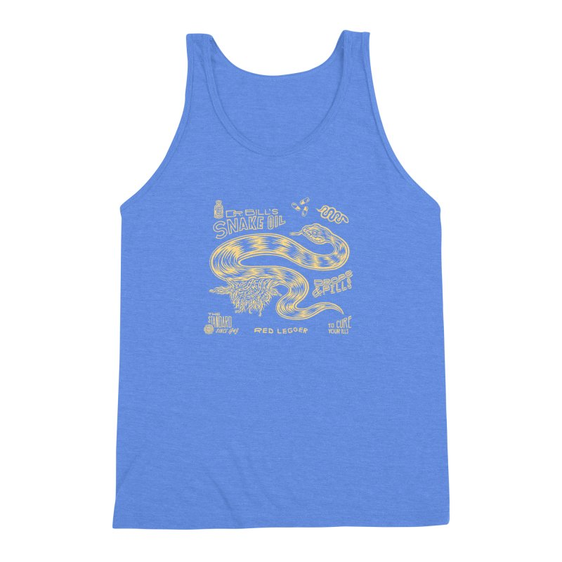 Snake Oil Men's Triblend Tank by redleggerstudio's Shop