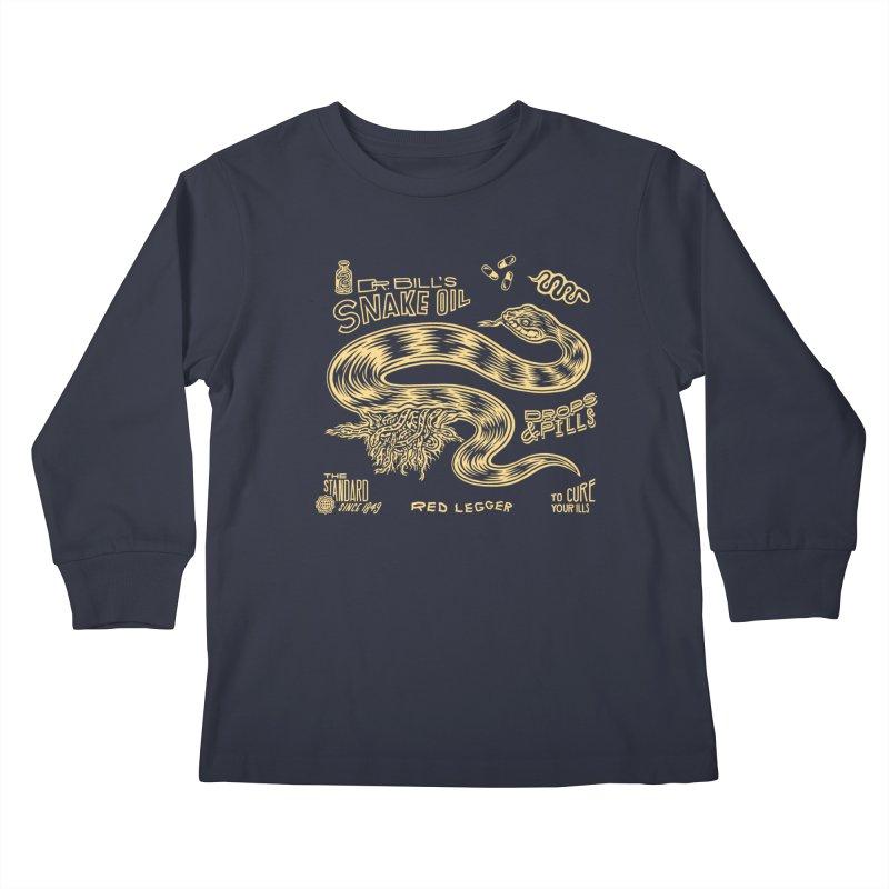 Snake Oil Kids Longsleeve T-Shirt by redleggerstudio's Shop