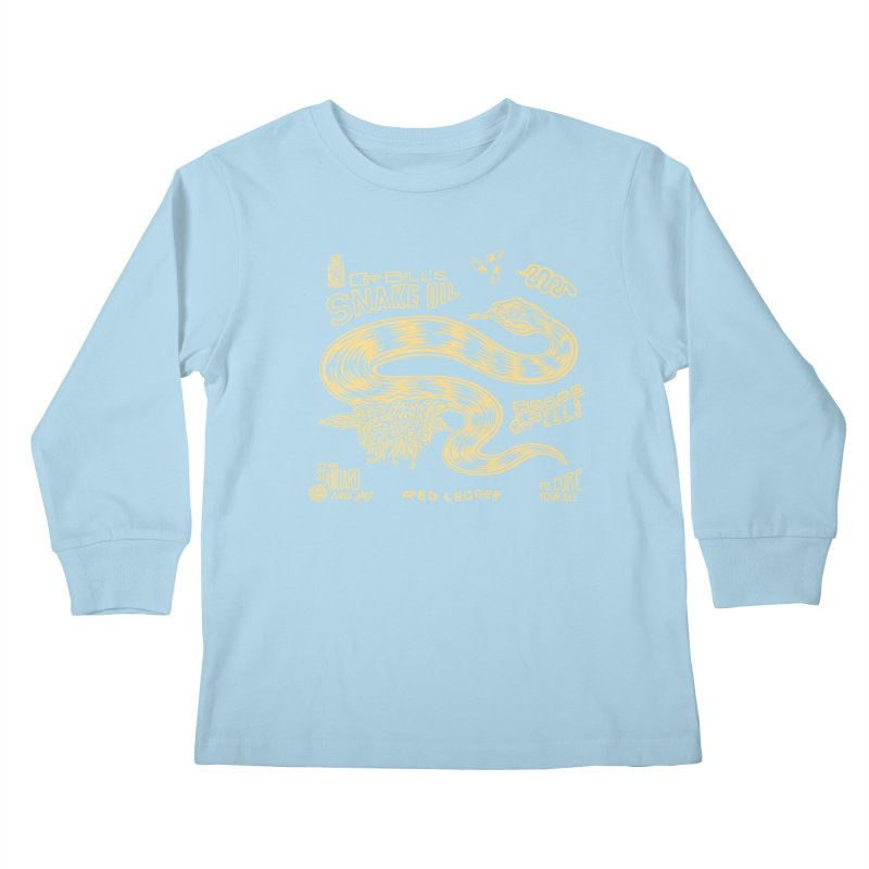 Snake Oil Kids Longsleeve T-Shirt by redleggerstudio's Shop