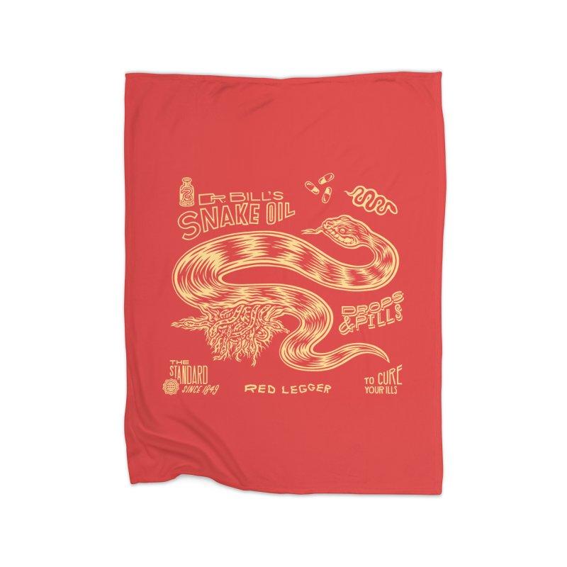 Snake Oil Home Blanket by redleggerstudio's Shop