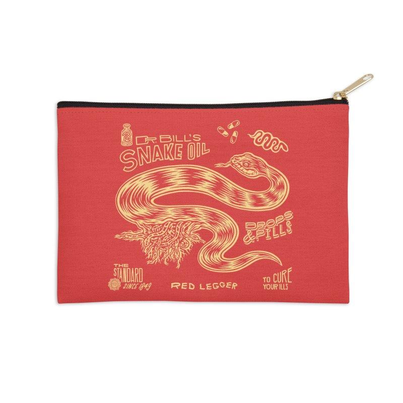 Snake Oil Accessories Zip Pouch by redleggerstudio's Shop