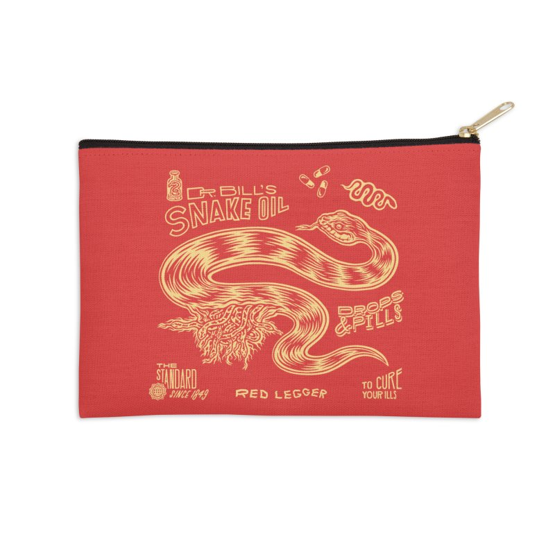 Snake Oil Accessories Zip Pouch by redleggerstudio's Shop