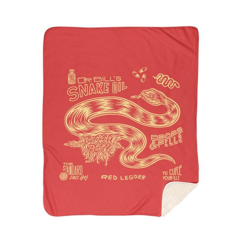 Snake Oil Home Sherpa Blanket Blanket by redleggerstudio's Shop