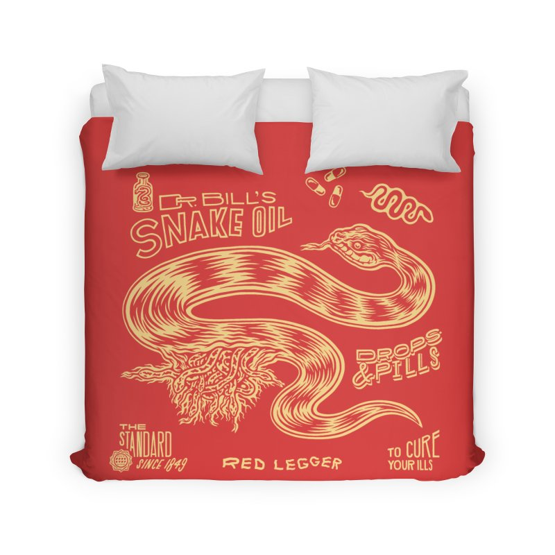 Snake Oil Home Duvet by redleggerstudio's Shop