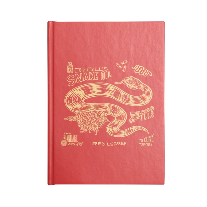 Snake Oil Accessories Blank Journal Notebook by redleggerstudio's Shop