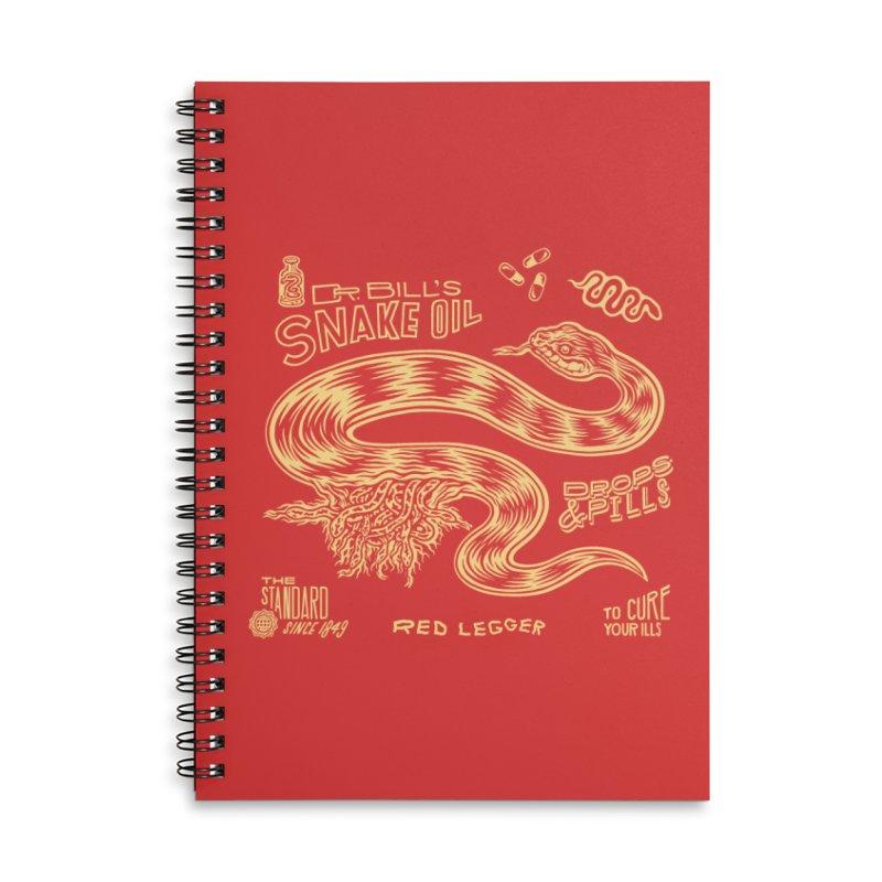 Snake Oil Accessories Lined Spiral Notebook by redleggerstudio's Shop