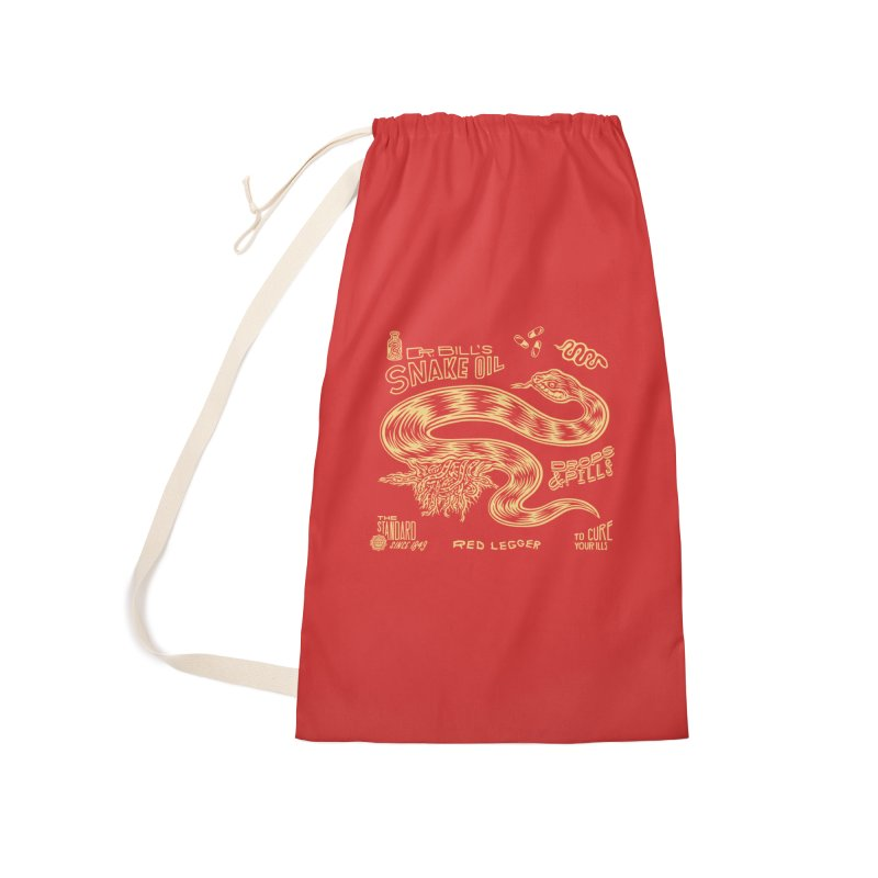 Snake Oil Accessories Laundry Bag Bag by redleggerstudio's Shop