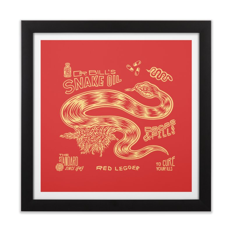 Snake Oil Home Framed Fine Art Print by redleggerstudio's Shop