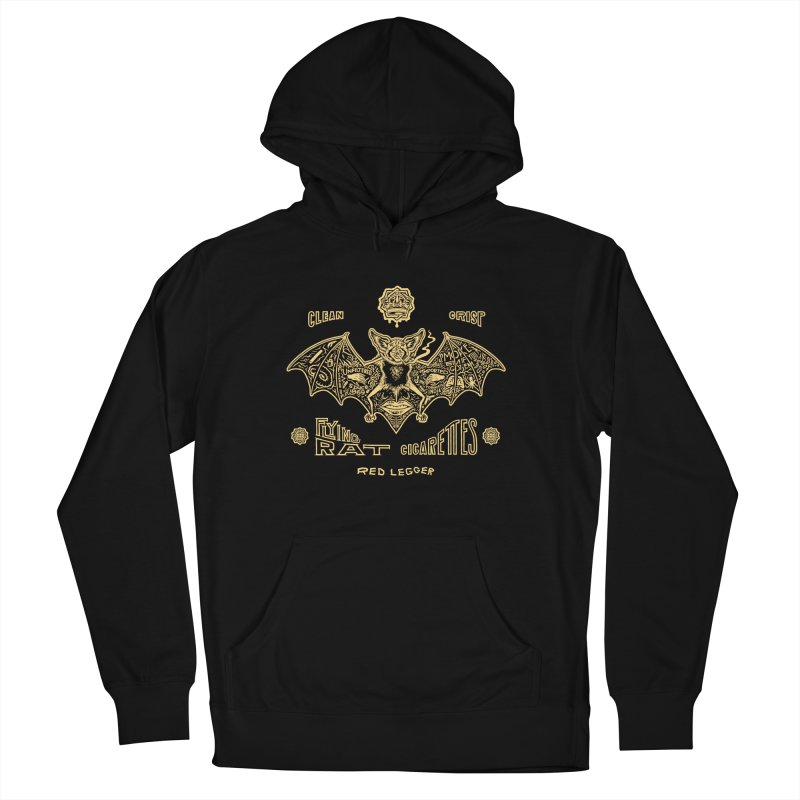 Flying Rat Men's French Terry Pullover Hoody by redleggerstudio's Shop