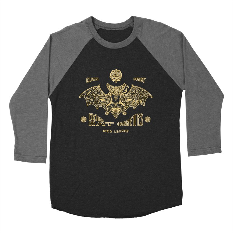 Flying Rat Women's Baseball Triblend T-Shirt by redleggerstudio's Shop
