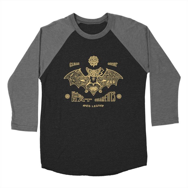 Flying Rat Men's Baseball Triblend Longsleeve T-Shirt by redleggerstudio's Shop
